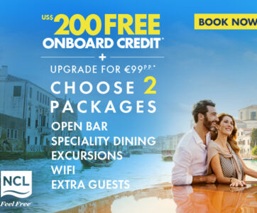 NCL PROMO 200 USD FREE + 2 PACKAGES